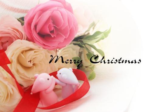 に 薔薇の花 無料素材 : クリスマスカードテンプレート無料ワード : カード